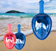 Kids Foldable 180° View Full Face Snorkel Scuba Diving Surface Mask For Gopro