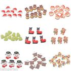 10PCs New Xmas Alloy Embellishment For Cute Christmas Three Decorative Patch