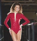 IN STOCK Sequin Red Glitz Low Back Jazz Cabaret Leotard   3 AS LAST ONE