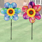 Sunflower Windmill 3D Dual Spinning Large Landscape Garden Flowers Outdoor Patio