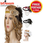 K508 1920s Headband Vintage Bridal Gatsby 20s Chicago Flapper Feather Headpiece