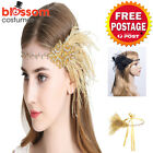 K511 1920s Headband Vintage Bridal Gatsby 20s Chicago Flapper Feather Headpiece