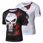 WEIMOSTAR Cycling Jersey Bike Men Skull Tops Shirt Short Sleeve Bicycle Clothes