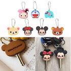 1 Pcs Silicone Key Ring Cap Head Cover Keychain Case Shell Animals Shape Lovely