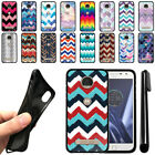 For Motorola Moto Z Play Droid XT1635 Chevron TPU SILICONE Case Cover + Pen