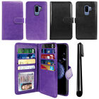 "For Samsung Galaxy S9 Plus/ S9+ 6.2"" Card Wallet Cover Case Wrist Strap + Pen"