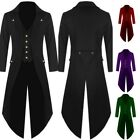 Vintage Mens Swallow-tailed Cropped Coat Tuxedo Banquet Stage Tail Outdoor Coat