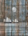 bathroom decorating themes - Coastal Sailboats, Ocean Rustic Theme Bathroom Bedroom Home Decor Matted Picture