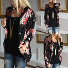 Women Fashion Floral Jacket Tops Long Sleeve Ladies Casual Cardigan Coat Outwear