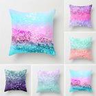 Colorful Suede Pillow Cover Sofa Waist Throw Cushion Cases Home Decors Xmas Gift image