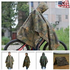 Plus Enhanced Waterproof Military Camo Raincoat Hooded Poncho Hunting Camping