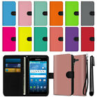 For Kyocera Hydro View C6742 Solid Color Wallet Pouch Case Cover + Pen