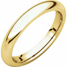 14K Yellow Gold 3mm Comfort Fit Band