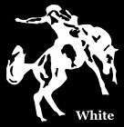 Window Decals - Rodeo Saddle Bronc Rider.  Your choice of colors