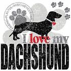 I Love My Dachshund Youth Small to 6 X Large T-Shirt Pick Your Size image