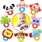 Baby Cartoon Animal Soft Plush Sound Rattles Teether Ring Toy Development Gifts