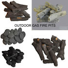 Fireplace Gas Firepit Wood Like Ceramic Decorative Log Set For Outdoor Fire Pit