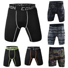 Herren Tight Shorts Compression Laufhose GYM Kurze Camouflage Fitnessmode P/D