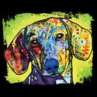 Dachshund Neon Size 2 X Large-7 X Large Mens Tank Tops