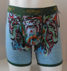 Ed Hardy Men's Cotton Premium Boxer Brief Tiger Army Tattoo Print Collection