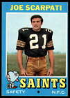 1971 Topps Football 153-263 -- Pick Your Card - - Each Card Scanned Front & Back