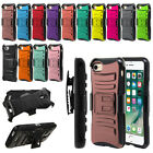 """For Apple iPhone 7/ iPhone 8 4.7"""" Color Hybrid Kickstand Holster Case Cover"""