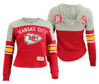 OuterStuff NFL Youth Girls Kansas City Chiefs Monument Slouchy Hoodie Top