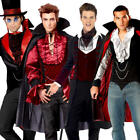 Gothic Vampires Mens Fancy Dress Halloween Count Dracula Adults Costume Outfit