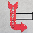 "36"" Double Sided BOXING Box Ring Match Metal Arrow Marquee Light Up Open Sign"