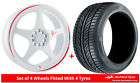Alloy Wheels & Tyres 8.0x18 7Twenty Style21 White + 2254018 Tyres