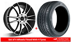 Alloy Wheels & Tyres 8.0x18 GEN2 Maven Black Polished Face + 2255018 Tyres