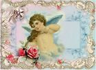 Whimsy Dust Cherub & Roses Crazy Quilt Block Multi Sz FrEE ShiP WoRld WiDE (W37
