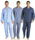 Mens Pyjamas 100% pure Cotton Traditional  Button up jacket and trousers Haigman