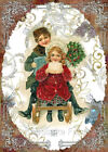 Whimsy Dust Victorian Christmas Kids Quilt Block Multi Szs FrEE ShiiP WoRldW (W4