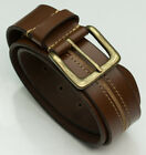 DuK Genuine 100% real leather belt quality tough mens jeans belts tan brown