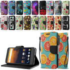 For ZTE Max XL N9560 ID Card Leather Flip Wallet Cover Pouch Case Kickstand