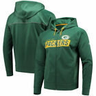 NFL Green Bay Packers Majestic Men's Game Elite Full Zip Hoodie Many Sizes NEW $29.99 USD on eBay