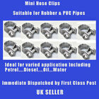 10 - 12mm MINI HOSE CLIPS FOR FUEL LINE DIESEL PETROL WATER OIL HOSE PIPE CLAMPS