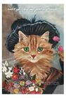 Flower Seller Nursery Cat  Quilt Block Multi Sizes FrEE ShiPPinG WoRld WiDE