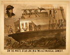 Photo Printed Old Poster: Theatre Flyer 1800s On White Star Line Musical Comedy