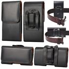 US LEATHER WAIST BELT HOLSTER CLIP POUCH CASE FOR SONY Z5 X XA1 XZ XZS E5 E4 L2