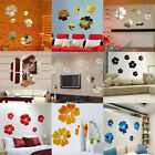 Flower 3d Mirror Art Removable Wall Sticker Acrylic Mural Decal Home Room Decor