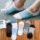 5 Pairs Unisex Invisible No Show Nonslip Loafer Boat Socks Ankle Low Cut Socks