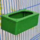 Plastic Square Parrot Pigeon Feeding Bowl Food Water Cup Holder Cage Striking