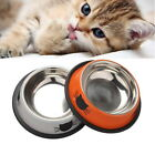 Cute Stainless Steel Spray Paint Pet Dog Bowls Cats Food Drink Water Feeder US