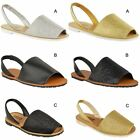 Womens Ladies Flat Sandals Girls Childrens Menorcan Flip Flops Summer Shoes Size