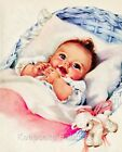 Sweet Baby In Crib Crazy Quilt Block Multi Szs FrEE ShiPPinG WoRld WiDE (B5
