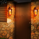 3 Modes Outdoor Powered  LED Wall Lamp Waterproof Flickering Flame Light  U