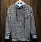Korea Mens Crewneck Slim Fit Pullover Knitted Short Sweaters Coat Clothing Tops
