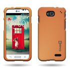 Hard Rubberized Plastic Matte Snap On Phone Cover Case for LG Optimus L90